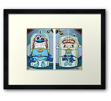 space madness ren and stimpy Framed Print