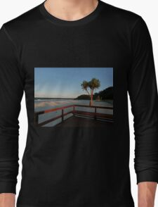 Boardwalk with a Tree with a View Long Sleeve T-Shirt
