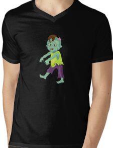 Cute happy zombie boy. Mens V-Neck T-Shirt
