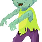 Cute happy zombie boy. by Sandytov