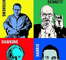 The Four Horsemen of Atheism by DJVYEATES