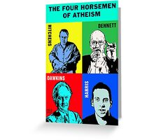 The Four Horsemen of Atheism Greeting Card