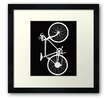 bicycle  white Framed Print