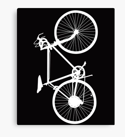 bicycle  white Canvas Print