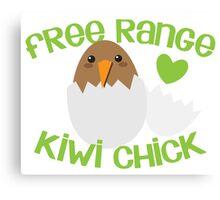 Free range KIWI chick! New Zealand cute funny Canvas Print