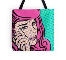 Sad Girl - Pink Tote Bag