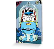 Stimpy's launch Ren and Stimpy Show Greeting Card