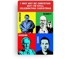 Atheist Christmas Canvas Print