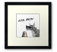 Kool Brow- Egg Framed Print