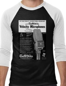 microphone Men's Baseball ¾ T-Shirt