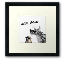 Kool Brow- Egg 2 Framed Print