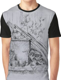 Drawing Graphite Graphic T-Shirt