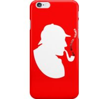 Detective Holmes Think and Smoke iPhone Case/Skin
