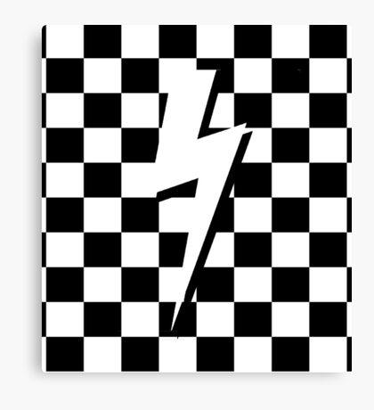 Checker Bolt 90s 80s Canvas Print