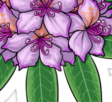 Rhododendron ponticum (No Text) Sticker