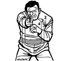 762Ballistic Target - The Thug Photographic Print