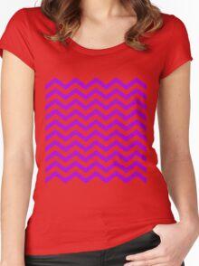 Magenta Chevron Lines Women's Fitted Scoop T-Shirt