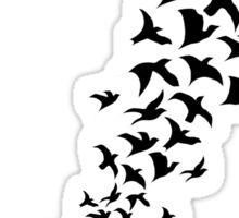 Take Flight in Black Sticker