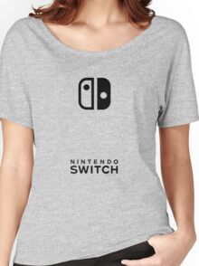 Nintendo Switch Case (Grey) Women's Relaxed Fit T-Shirt