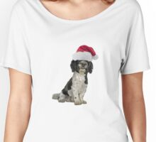 Havanese Dog Santa Claus Merry Christmas Women's Relaxed Fit T-Shirt