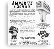 Amperite Microphones vintage ad Canvas Print