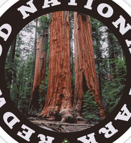 Redwood National Park circle Sticker