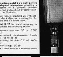 vintage microphone akg Sticker