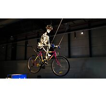 The Skeleton Cyclist Photographic Print