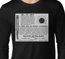 akg microphone ad  Long Sleeve T-Shirt