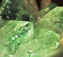 Green Glitter (Apophyllite) by Stephanie Bateman-Graham