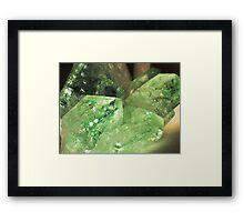 Green Glitter (Apophyllite) Framed Print