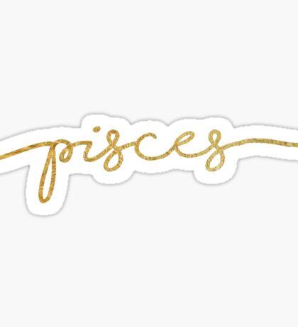 Pisces gold sticker Sticker