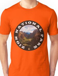 Zion National Park circle Unisex T-Shirt