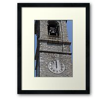 old steeple of the church Framed Print