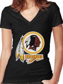REDSKINS LOGO Women's Fitted V-Neck T-Shirt