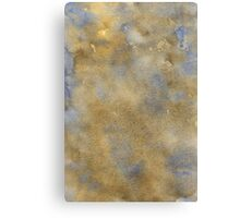 Blue-Brown Watercolor Canvas Print