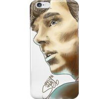 Sherlock Sketch With Colours iPhone Case/Skin