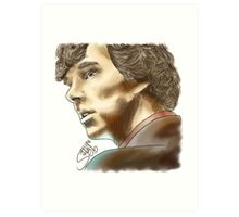 Sherlock Sketch With Colours Art Print