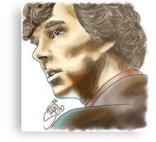 Sherlock Sketch With Colours Metal Print