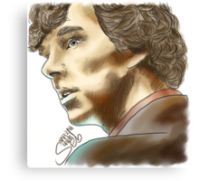 Sherlock Sketch With Colours Canvas Print