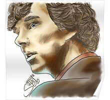 Sherlock Sketch With Colours Poster