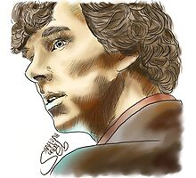 Sherlock Sketch With Colours Photographic Print