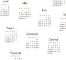 Tea Time - 2017 Calendar Sticker
