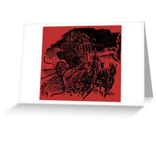 Stage To Hellfire Pass Greeting Card