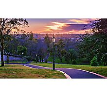 Pathway to the Sunrise Over Bendigo Photographic Print