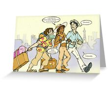 Classics on Vacation I Greeting Card