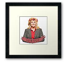 Leslie Knope - Queen Leslie Framed Print