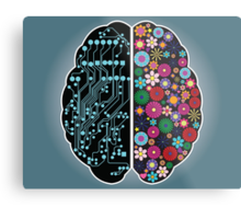 Left and right brain Metal Print