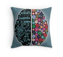 Left and right brain Throw Pillow