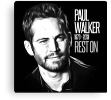 In Memoriam Paul Walker Canvas Print